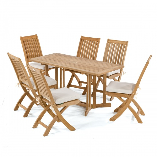 Barbuda 7 pc Teak Folding Set - Picture A
