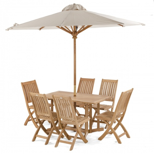 Barbuda 7 pc Teak Folding Set - Picture B