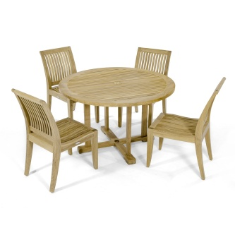 Laguna 4FT Round Teak Dining Set