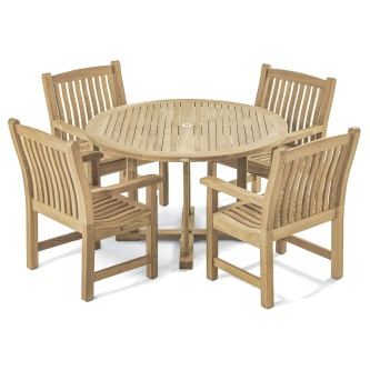 Veranda 4 ft Round Teak Dining Set