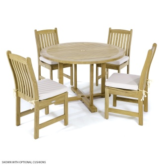 Veranda 4 ft Round Side Chair Set