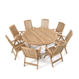 Vogue Reclining Dining Set for 8