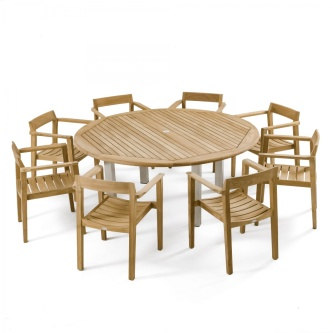 Horizon Vogue Teak Dining Set for 8