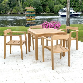 Horizon 5 pc Teak Cafe Set