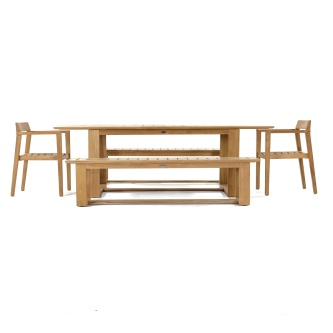 Horizon 5 pc Bench Teak Dining Set