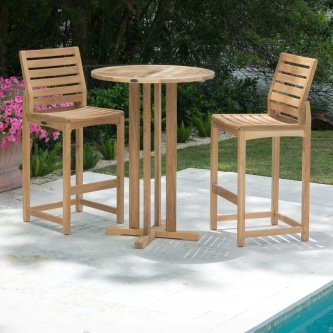 Somerset 3 pc Bistro Teak Bar Set