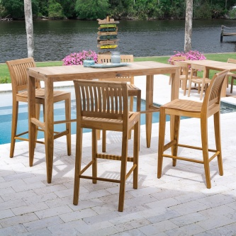 Laguna 5pc Teak Bar Set
