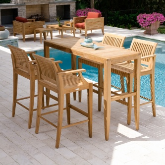 Laguna 5pc Teak High Bar Set