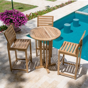 Somerset 4 pc Bistro Teak Bar Set