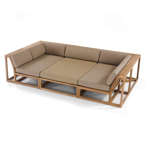 Maya Teak Large Sectional - Picture B