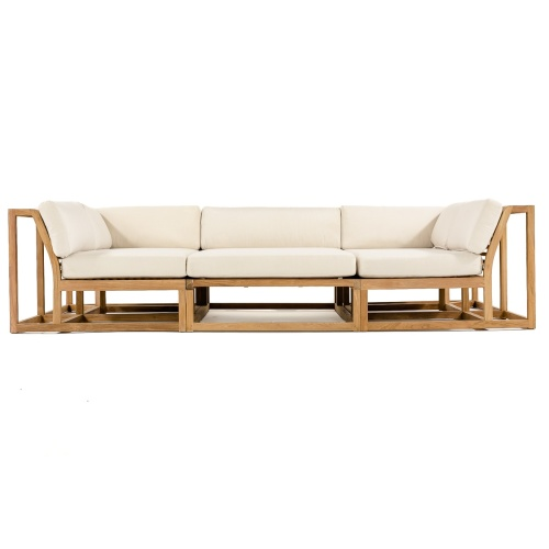Maya Teak Large Sectional - Picture C