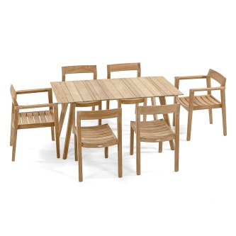7pc Surf-Horizon Dining Armchair Set