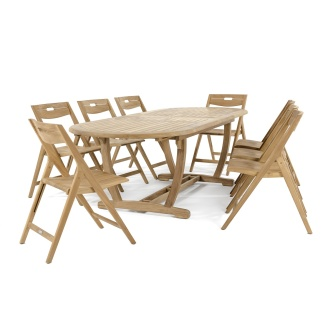 9 pc Surf Oval Table Set