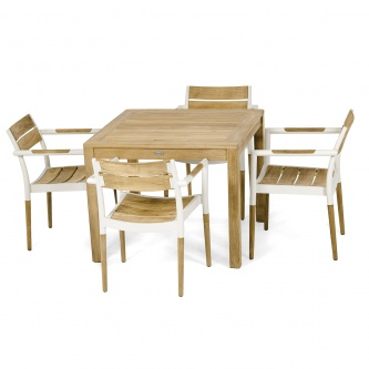 5pc Bloom Square Dining Chair Set