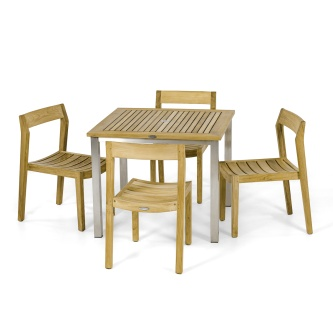 Vogue Horizon 5 pc Teak Dining Set