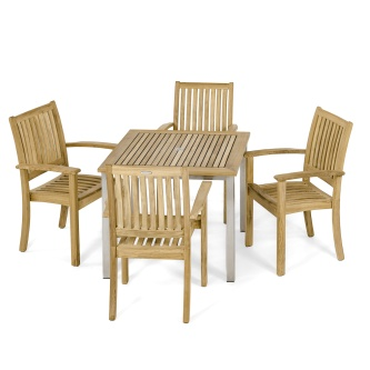 Vogue Sussex 5 pc Stacking Chair Set