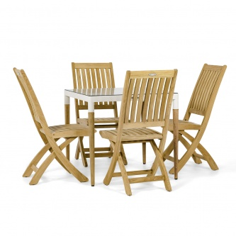 Bloom Barbuda Teak Dining Set