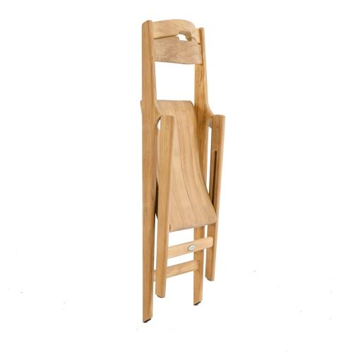 Bloom Square Surf Teak Folding Chair Set - Picture M