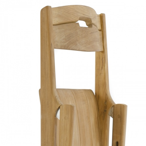 Bloom Square Surf Teak Folding Chair Set - Picture N