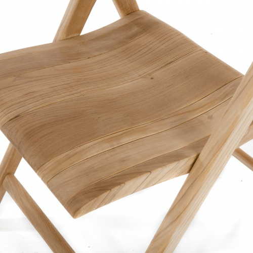 Bloom Square Surf Teak Folding Chair Set - Picture O