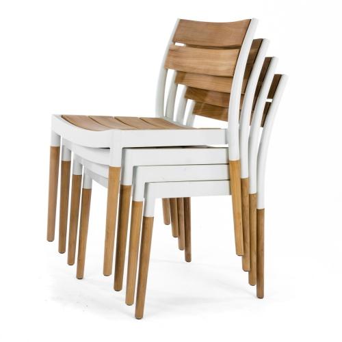 Vogue Bloom Teak Sidechair Set - Picture K