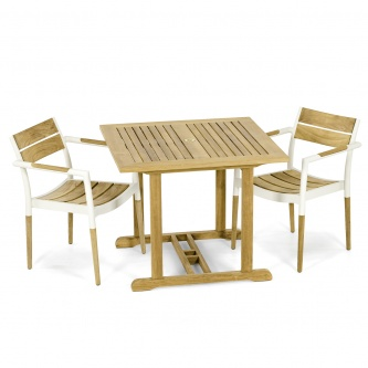 3 pc Bloom Teak Bistro Set