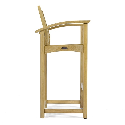 Square Somerset Teak Dining Barstool Set - Picture L