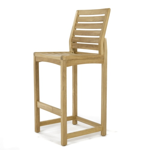 Square Somerset Teak Side Barstool Set - Picture K