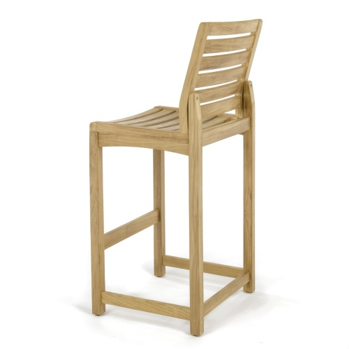 Square Somerset Teak Side Barstool Set - Picture M