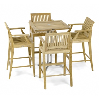 Square Laguna Dining Barstool Set