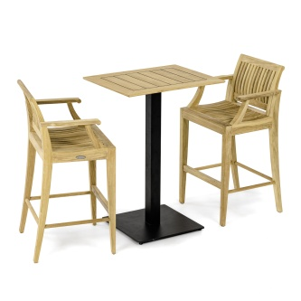 Laguna Barstool 3pc Teak Bar Set