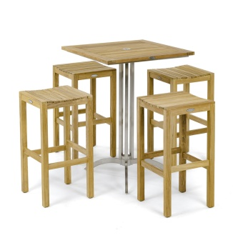 Square Vogue Backless Barstool Set
