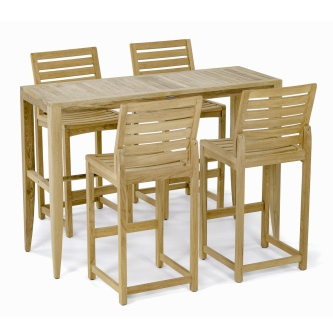 Laguna Somerset Side Teak Barstool Set