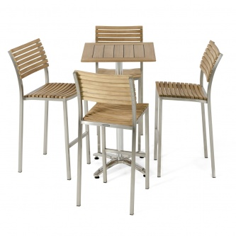 Vogue Stainless Pub Table and Stool Set