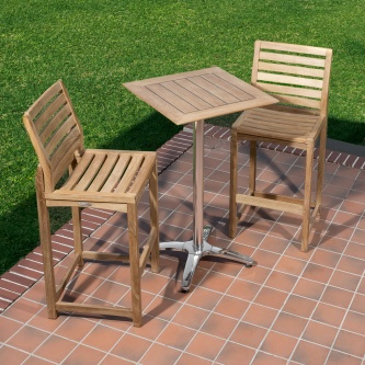 Somerset Barstool 3pc Teak Bar Set