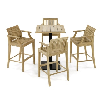 Laguna Barstool 5pc Teak Bar Set