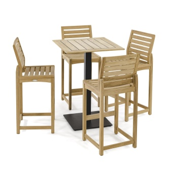 Somerset 5pc Commercial Teak Bar Set