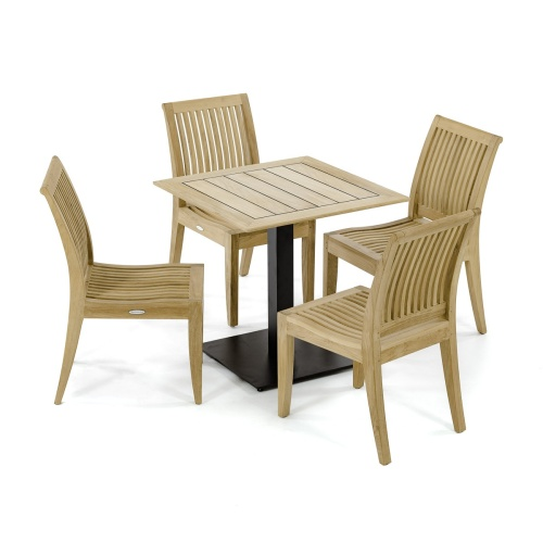 5 pc Laguna Teak Cafe Set - Picture A