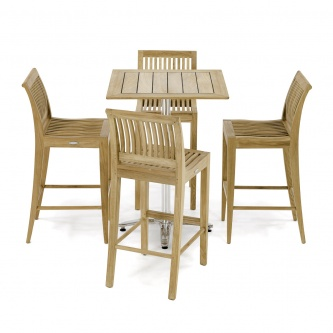 5 pc Laguna Teak Pub Set