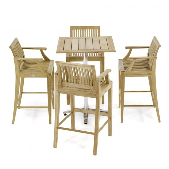 5 pc Laguna Teak Bar Furniture