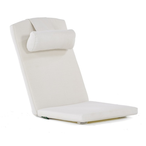 Barbuda Teak Recliner Chair & Ottoman Set - Picture N