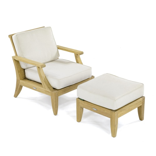 Laguna Lounge Chair and Ottoman - Picture A