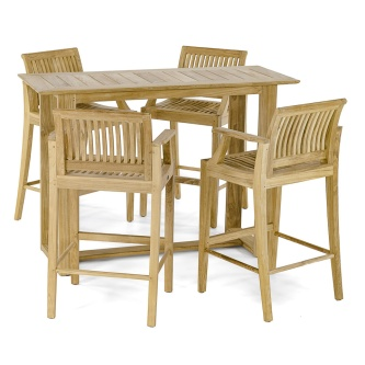 Laguna Horizon 5pc Teak Bar Set