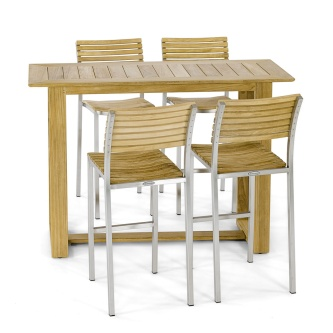 Horizon Vogue Teak High Top Dining Set
