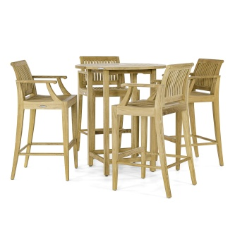 Laguna Somerset 5pc Teak Bar Set