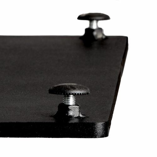 24x30 Rectangular Teak Table Top & Black Base - Picture F