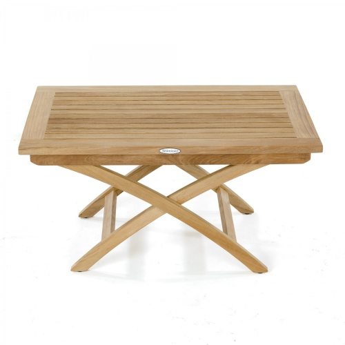 Barbuda Teak Folding Chair and Table Chat Set - Picture F