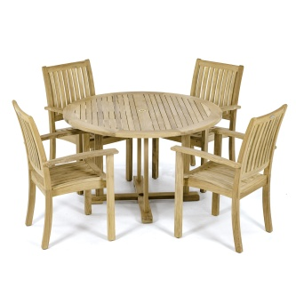 Round Sussex Teak Dining Set