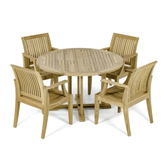 4 Ft Round Laguna Dining Set