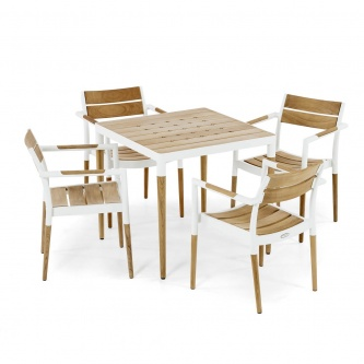 Bloom 5 pc Dining Set (wood tabletop)